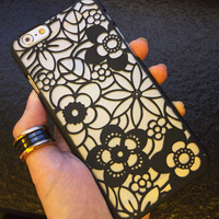 Hollow Out Sunflower iPhone 5s 6 6s Plus Case Gift-144