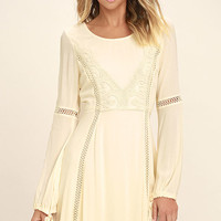 Black Swan Kaidence Cream Lace Long Sleeve Dress