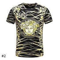 Versace 2018 new casual tide brand high-end round neck T-shirt F-A00FS-GJ #2