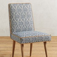 Tiled Zolna Chair by Anthropologie in Blue Size: One Size Furniture