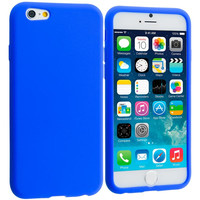 Blue Silicone Soft Skin Rubber Case Cover for Apple iPhone 6 Plus 6S Plus (5.5)