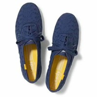 keds Oxford Lace-Up Sneakers navy blue H-G-JGYF