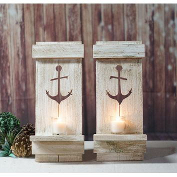 Nautical Anchor Pallet Wall Sconce