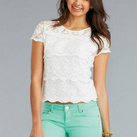 Scallop Lace Short-Sleeve