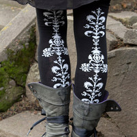Floral Chain Over the Knees - Sock Dreams