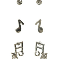 LOVEsick Music Earrings 3 Pair