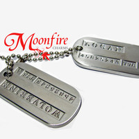 WOLVERINE Military Dog Tag Necklace