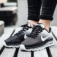 """""""NIKE"""" Trending Fashion Casual Sports Shoes AirMax section Black white gradient I"""