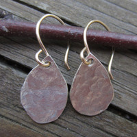 Raindrop Earring, Raindrops Jewelry, Hammered Silver Earrings, Small Silver Earring