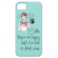 Vintage Coffee & Wine iPhone 5 Case from Zazzle.com