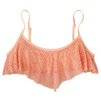 Xhilaration® Junior's Mix and Match Crochet Hanky Swim Top -Creamsicle
