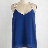 Nautical Mid-length Spaghetti Straps Strappy Savvy Top