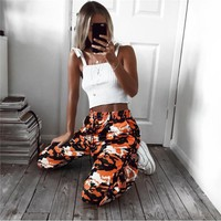 Women's new Camo tie Haren casual pants Day-First™