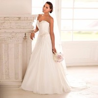 2016 In Stock Wedding Dresses Sweetheart Chiffon Gown