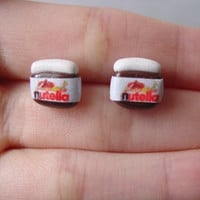 Nutella Earring Studs by SimplyEncharming on Etsy