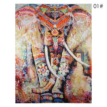 Wall Carpet Elephant Tapestry Colored Printed Decorative Mandala Tapestry Indian Boho Crafts