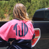 Monogrammed Preppy Jersey with Front & Back Monogram