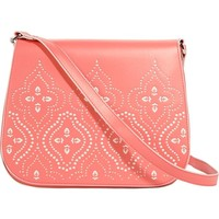 Vera Bradley Women's Laser-Cut Saddle Crossbody Coral Cross Body