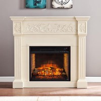 Harper Blvd Cameron Ivory Carved Infrared Electric Fireplace | Overstock.com Shopping - The Best Deals on Indoor Fireplaces
