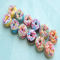 Candy Sprinkle Donut Earrings