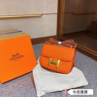 Hermes Women Leather Shoulder Bags Satchel Tote Bag Handbag Shopping Leather Tote Crossbody11