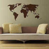 world map wall sticker and destination markers by the binary box | notonthehighstreet.com