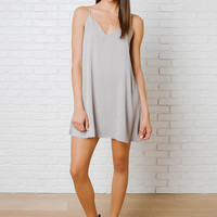 Mari V-Cut Slip Dress