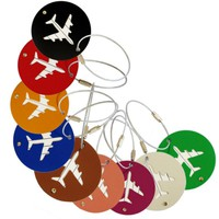 Aircraft Round Shape Travel Luggage Tag
