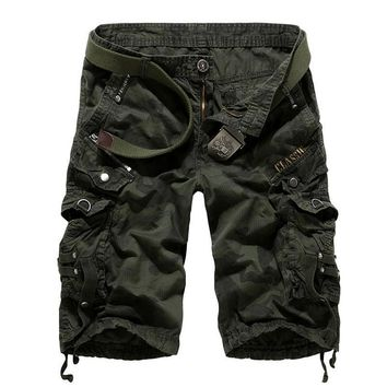 Summer Camouflage With Pocket Stylish Strong Character Pants Shorts [6541435139]