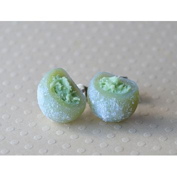 Green Tea Matcha Ice Cream Mochi Post Earrings