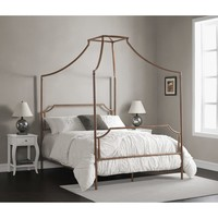 The Curated Nomad Flatiron Brushed Dark Copper Full-size Canopy Bed   Overstock.com Shopping - The Best Deals on Beds