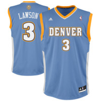 Ty Lawson Denver Nuggets adidas Replica Road Jersey - Light Blue