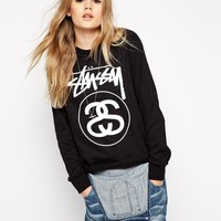 Stussy Long Sleeve T-Shirt With Front Logo