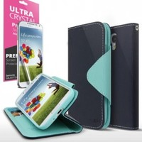 Samsung Galaxy S4 Wallet Case; Best Design with Coolest Premium [PU/Faux Leather] with Stand Feature and Magnetic Flap Closure; Functional Fashion Slim Wallet Case Cover for Galaxy S4 (Release Date); Supports Samsung S4 Devices From Verizon, AT&T, Sprint,