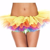 Rainbow Short 5-layer Tutu