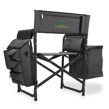 Oregon Ducks 'Fusion' Backpack Chair with Cooler-Fusion Grey/Black Digital Print