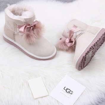 Ugg 1018517 Sand Color Classic Sheepskin Boot Snow Boots
