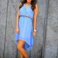 Dixie Girl High-Low Dress: Periwinkle | Hope's