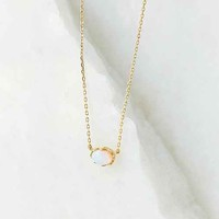 Traveling Stone Charm Necklace- Gold One