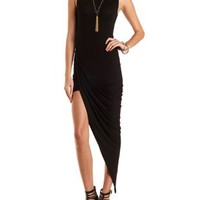 Mock Neck Asymmetrical Dress by Charlotte Russe