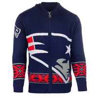 New England Patriots Official NFL Full Zip Hooded Sweatshirt by Klew