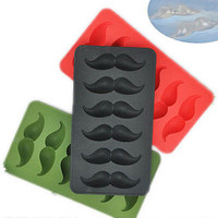 Silicone Moustache Pudding Jelly Candy Ice Cube Trays Popsicle Bar Mold Q. 03