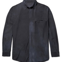 The Elder Statesman - Oversized Hammered-Silk Shirt