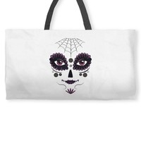 girl day of the dead Weekender Totes