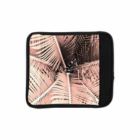 """Suzanne Carter """"Palm-Peach"""" Pink Black Luggage Handle Wrap"""