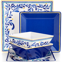 Martha Stewart Collection Vine and Blue Mix & Match Everyday Melamine Collection