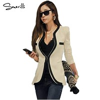 2018 New Arrival Autumn Women Blazers and Jackets Work Office Lady Suit Slim White Black Blazer Coat For Female Striped Blazers