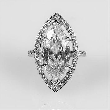 Ohara Marquise Solitaire Engagement Ring   14ct