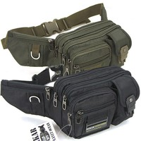 Cool Military Black Green Fanny pack Waist bag Bum Belt bag for men women hot sale