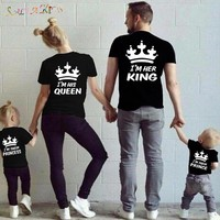 Family Matching Outfits T-shirt Clothes Family Look Cotton
